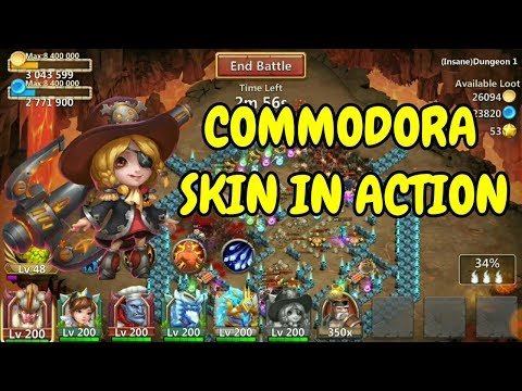 Commodora Skin In Action L Castle Clash