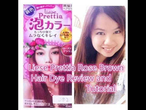 Liese Prettia Rose Brown Hair Dye Review and Tutorial  YouTube
