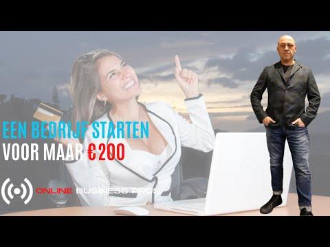 ONTDEK HOE JE MET EEN BUDGET VAN €200  EEN ONLINE  BEDRIJF KUNT STARTEN.