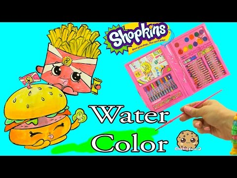Thumbnail: Shopkins Art Set Marker & Water Color Fast Food Picture Painting - Video Cookie Swirl C