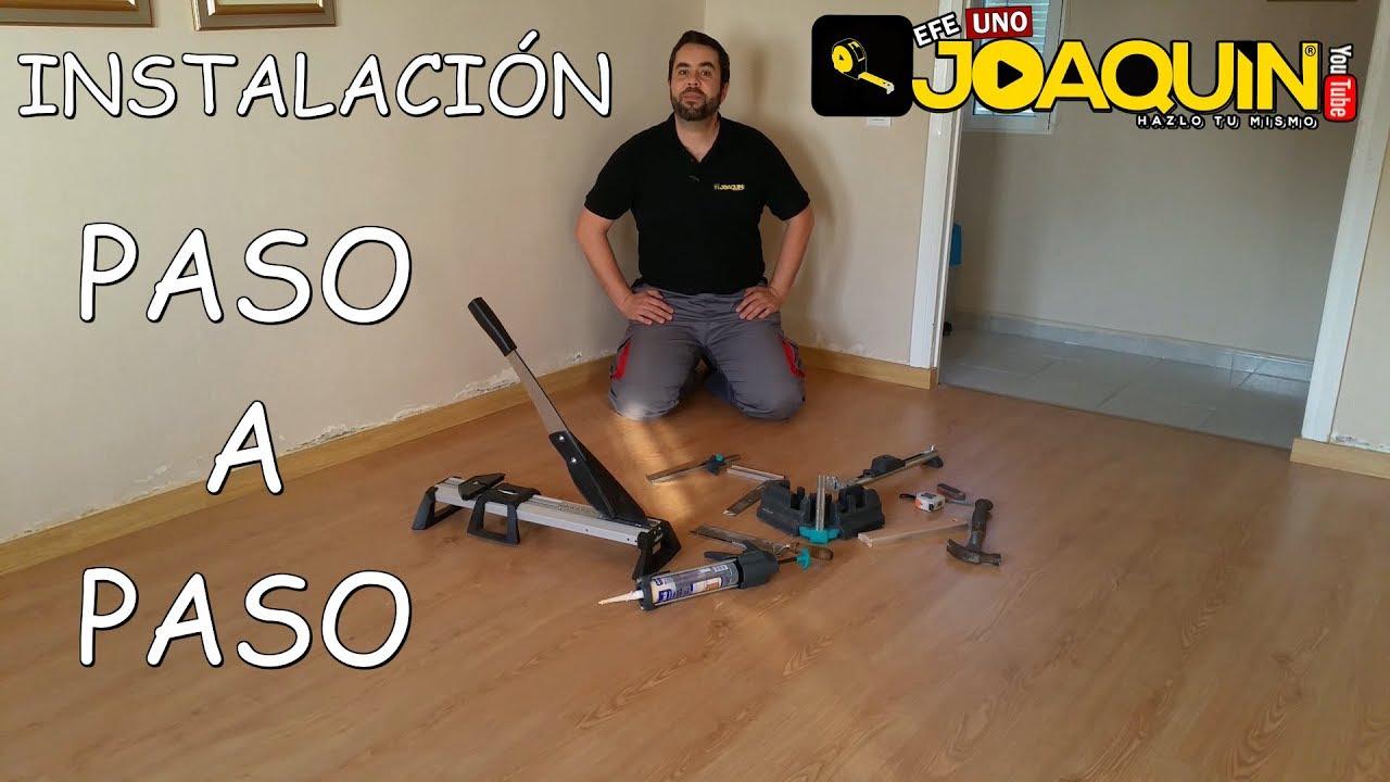 Como instalar suelo laminado paso a paso youtube - Como poner suelo laminado ...