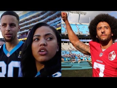 "Steph Curry Tells NFL to ""FREE"" Colin Kaepernick During 49ers-Panthers Game"