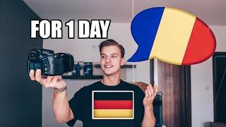 GERMAN SPEAKS ROMANIAN for 1 DAY