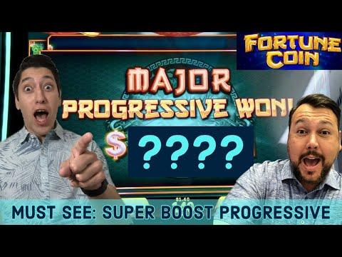 MAJOR PROGRESSIVE WIN on Fortune Coin with a SUPER BOOST