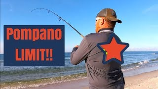 The BEST Way to Limit Out on Pompano Surf Fishing