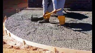 Как правильно залить двор бетоном своими руками? (видео)