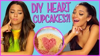 DIY Heart Cupcakes?! | Niki and Gabi DIY or DI-Don't