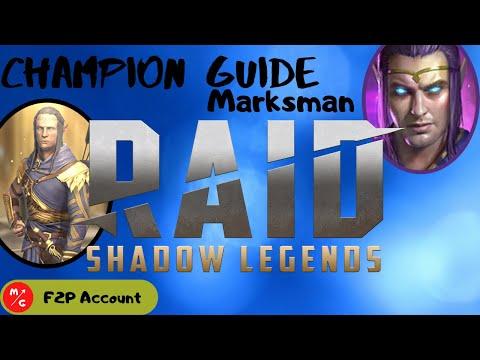 [F2P] | MARKSMAN Raid Shadow Legends Champion Guide | Underrated Epic Champion | New Poisoner!