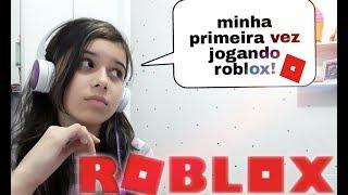 MINHA PRIMEIRA VEZ JOGANDO ROBLOX PELO PC! (flee the facility)