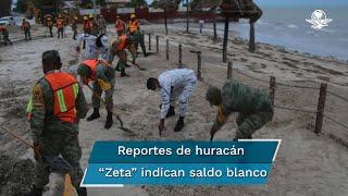 """El gobernador de Quintana Roo, Joaquín Delgado, informó que hasta el momento se reporta saldo blanco tras el paso del huracán """"Zeta"""""""