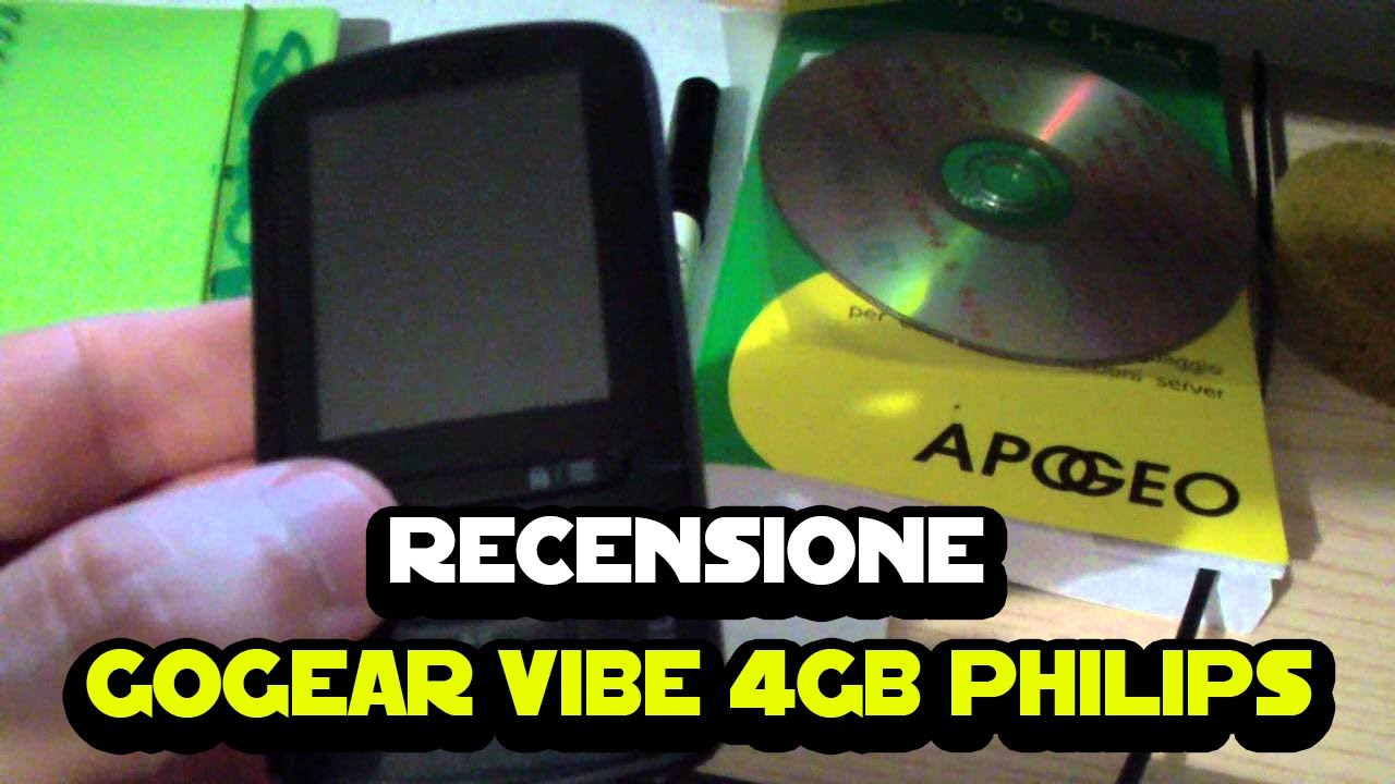 Recensione GoGear Vibe 4GB Philips SA4VBE04KN YouTube