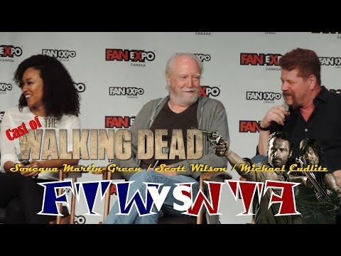 The Walking Dead's Sonequa Martin-Green, Scott Wilson, Michael Cudlitz - Fan Expo Canada
