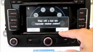 RNS310 Basics. Code, radio, navigatie, media. Navigatiespecialist Volkswagenradio.nl