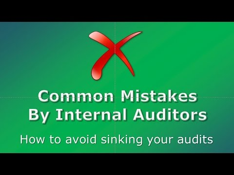 Common Mistakes By Internal Auditors 1-10 TopSkills