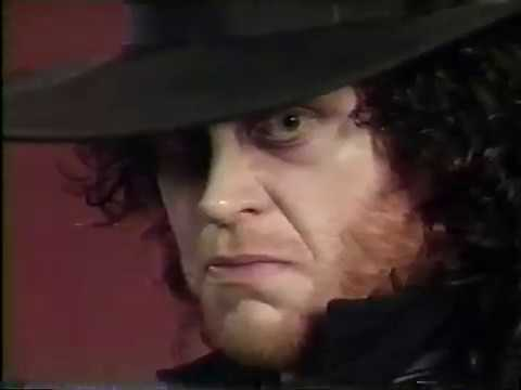 Undertaker (with Paul Bearer) - Royal Rumble Promo [1991 ...