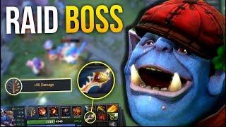RAID BOSS - Carry Ogre Magi +90 Damage Talent Radiance by BabyKnight 7.10   Dota 2
