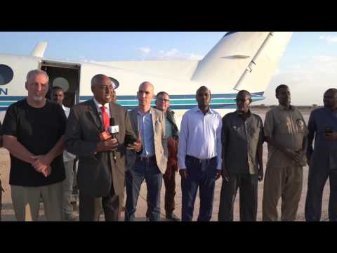 A warm welcome & New friends in Somalia