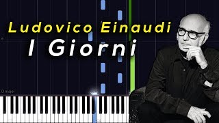 Ludovico Einaudi - I Giorni [Synthesia Piano Tutorial]