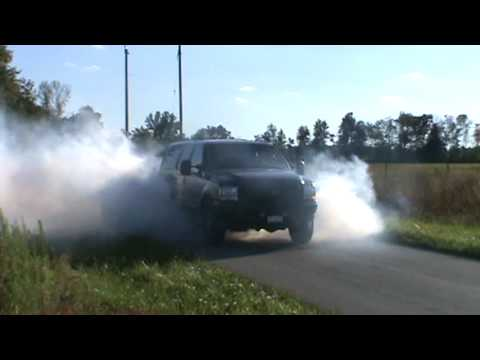 My Turbo V Excursion Doing A Big Smokey Burnout