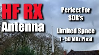 HF RX SWL Antenna For Small Spaces And Apartments RTL SDR