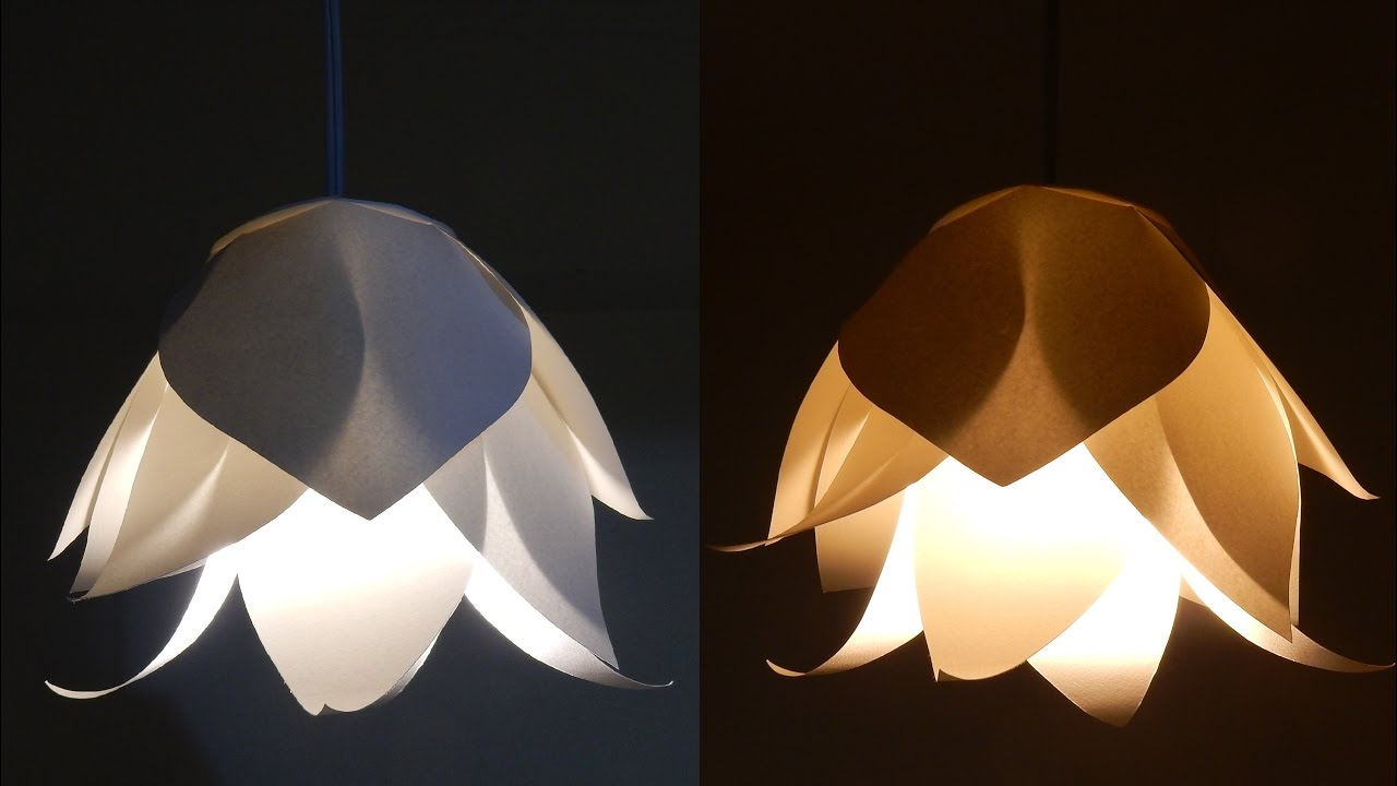 DIY flower lamp - learn how to make a paper flower ...
