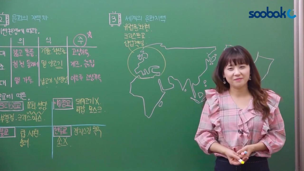 [중등인강/중1 사회] 세계의 문화 지역_지도 정리 - 수박씨닷컴 강재희선생님