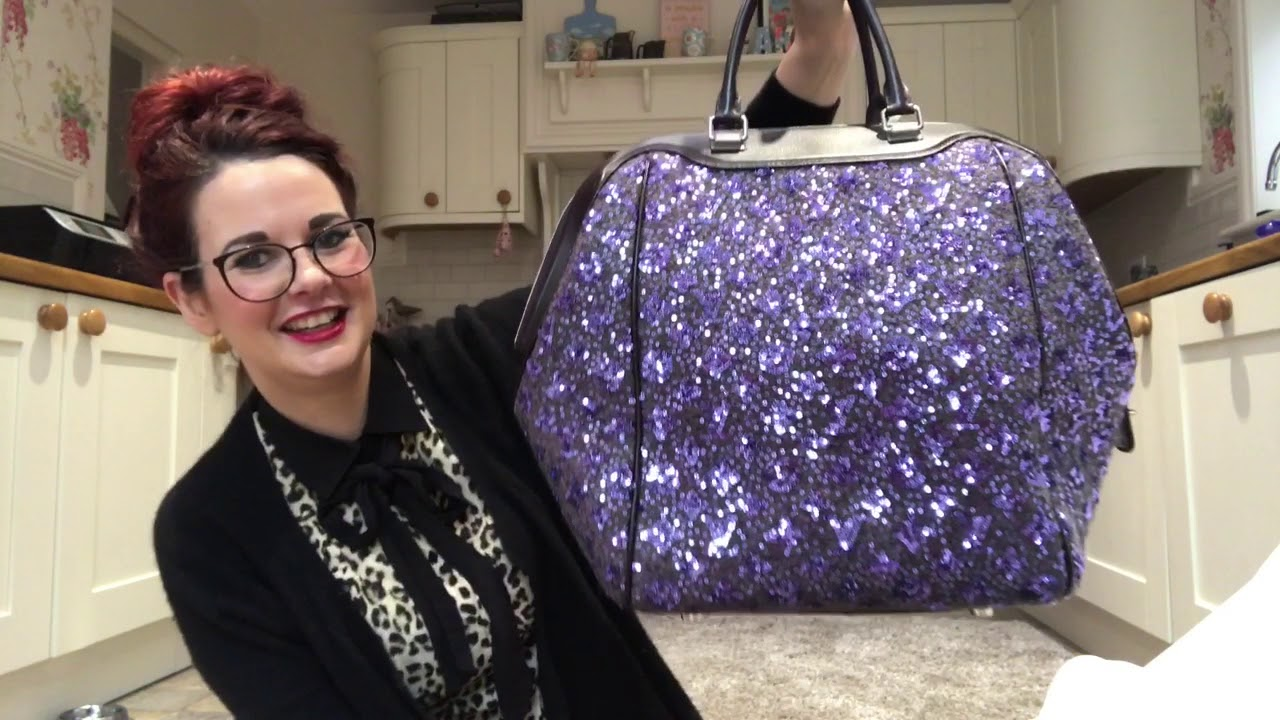 Handbag Unboxing of a Louis Vuitton sunshine express north south sequin bag  wow what a bag