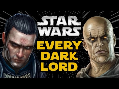 Every Dark Lord of the Sith - Star Wars Canon and Legends