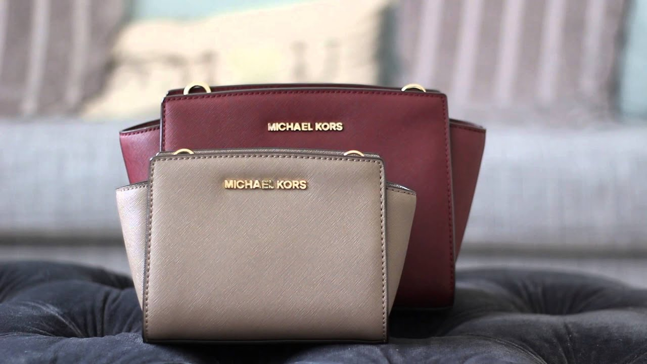 d42967a74f75bb Michael Kors Mini + Medium Selma Messenger Size Comparison | Bright Ducky