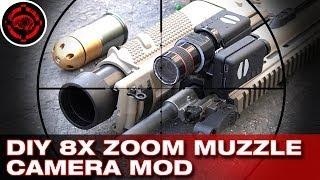 DIY Build an 8X Zoom Muzzle Camera + Shooting, Mobius Action Cams