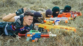 LTT Game Nerf War : Winter Warriors SEAL X Nerf Guns Fight Criminal Group Rocket N-Strike Elite
