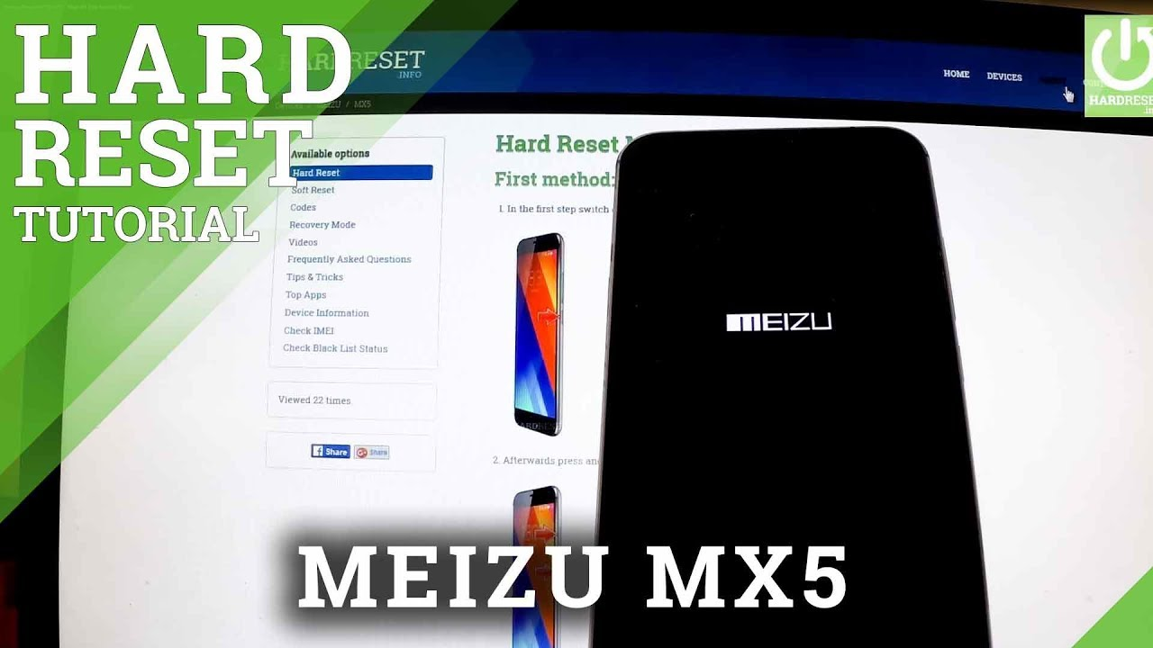 Factory Reset MEIZU MX5 - Wipe All Data by Hard Reset