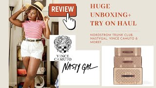 HUGE SUMMER UNBOXING SUMMER TRY ON HAUL| NASTYGAL, NORSDTROM TRUNK CLUB & MORE
