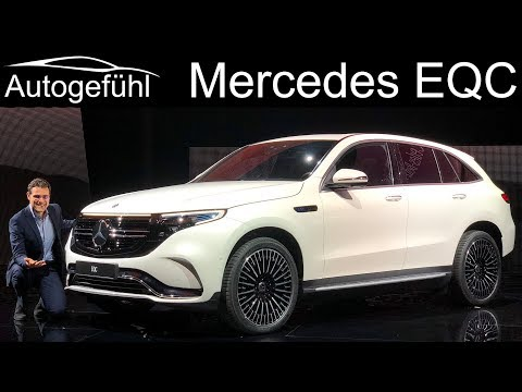 First all-electric Mercedes EQC REVIEW Exterior Interior AMG-Line vs Electric Art comparison