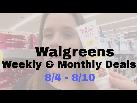 Top Weekly & Monthly Deals for Walgreens: 8/4-8/10 | So Many Freebies!