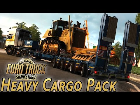 Heavy Cargo Pack DLC - Euro Truck Simulator 2 (with Wheel Cam)