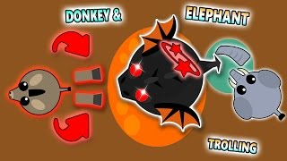 MOPE.IO KILLING BLACK DRAGONS! DONKEY & ELEPHANT TROLLING FUNNY MOMENTS! (Mope.io)