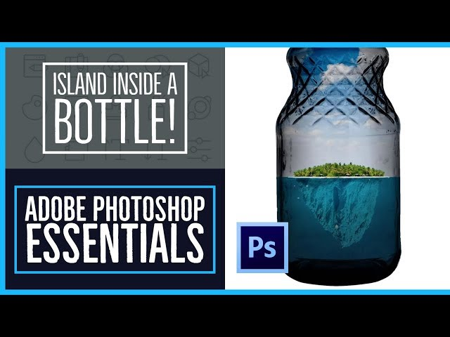 How to put images inside a bottle in Photoshop - Photoshop CC Essentials [62/86]