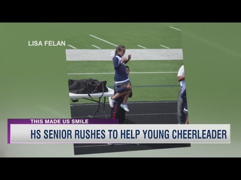 HS Senior Rushes To Help Young Cheerleader