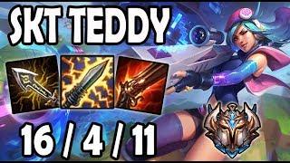 SKT Teddy CAITLYN vs EZREAL [ ADC ] Lol Challenger Korea