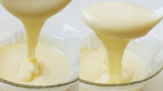 How To Make Homemade Condensed milk/MILKMAID || easy Milkmade