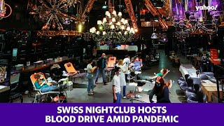 Swiss nightclub hosts blood drive amid pandemic