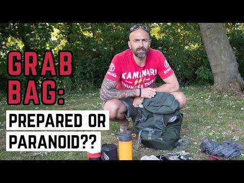 Royal Marine Veteran's GRAB BAG: Prepared or Paranoid? SURVIVAL BAG... EMERGENCY USE ONLY
