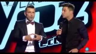 Ricky Martin Performing 'disparo Al Corazón' At The Voice Spain + The Interview.