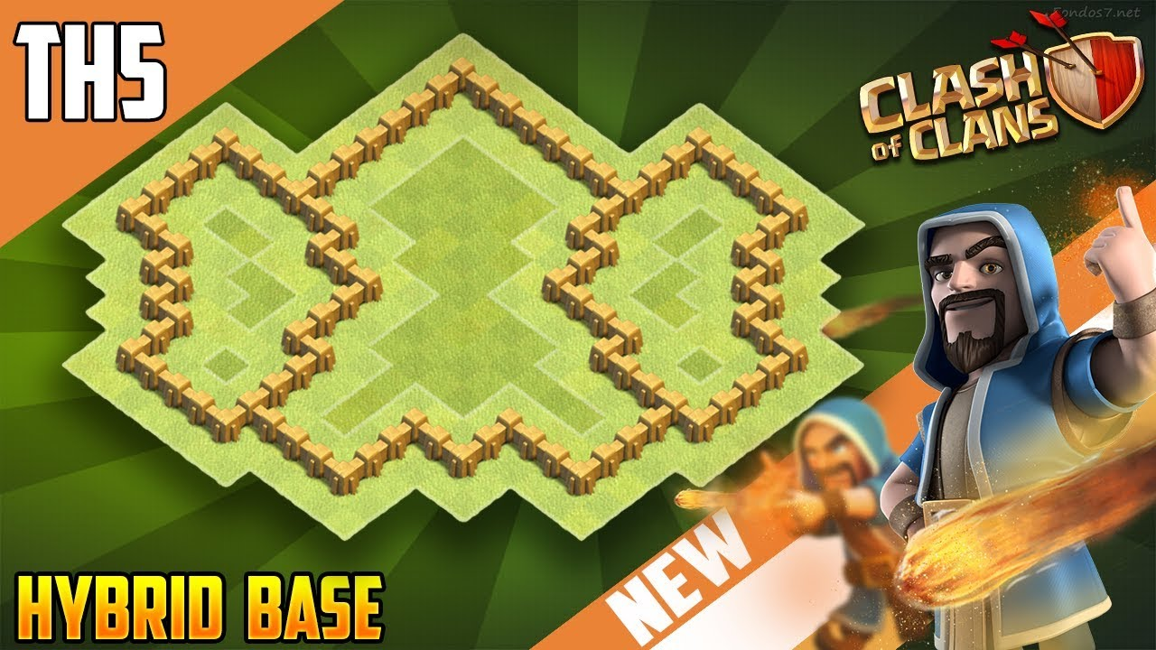 Coc Best Town Hall 5 Th5 Hybrid Base Design Clash Of Clans