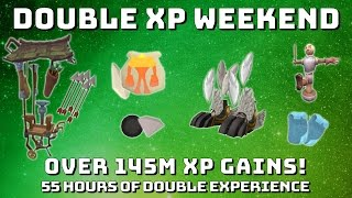 Maikeru's Double XP Weekend Gains! [Runescape 3] Over 145m XP!