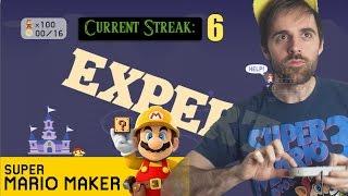Mario Maker NO-SKIP 100 Mario Expert Challenge COMPLETE x2 - Current Streak: 6 (TWO completions!)