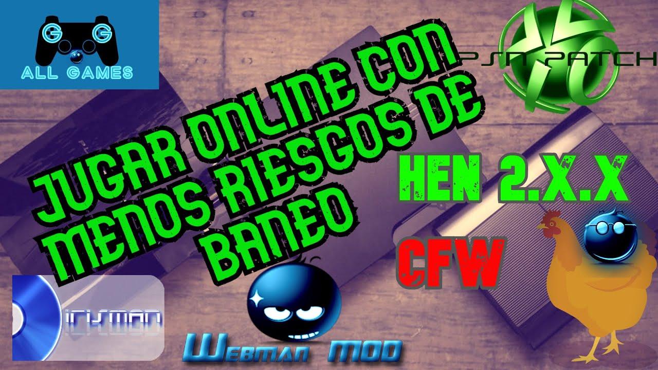 PS3EXPLOIT JUGAR ONLINE EN HEN O CFW CON PSNPATCH MENOS RIESGO DE BAN!  METODO SUPER FACIL Y RAPIDO
