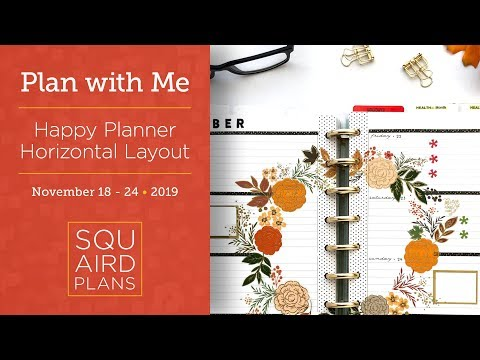 Harvest Wreath Spread :: Plan with Me :: Happy Planner Horizontal Layout