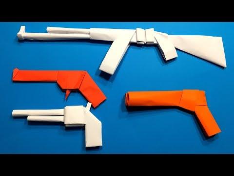 TOP 5 Origami Gun | How to Make a Paper Gun Pistol DIY | Easy Origami ART | Paper Crafts